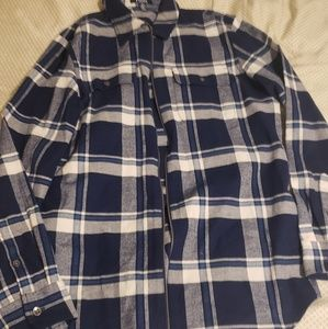 Chaps zip up plaid shirt NWT